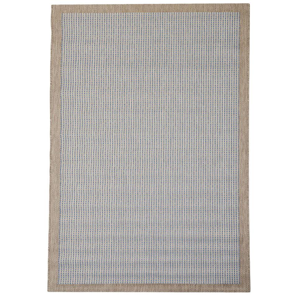 Floorita binnen/buitenvloerkleed Chrome - blauw - 135x190 cm - Leen Bakker
