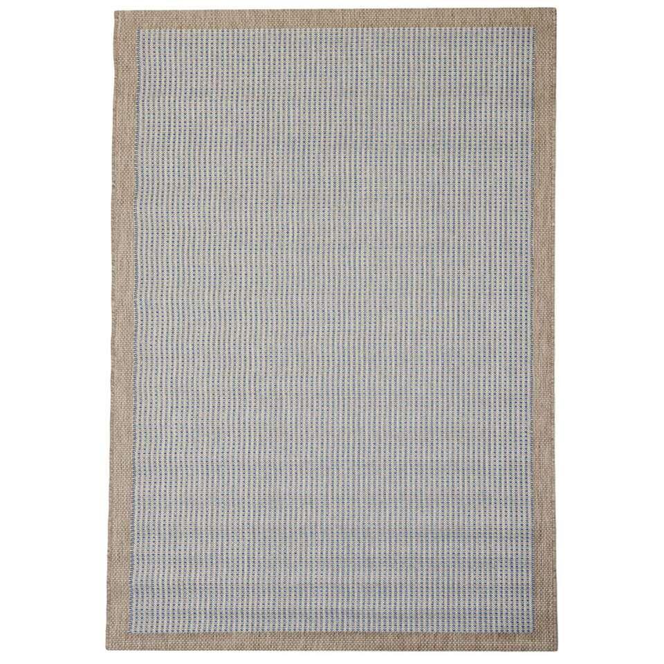 Floorita binnen/buitenvloerkleed Chrome - blauw - 160x230 cm - Leen Bakker