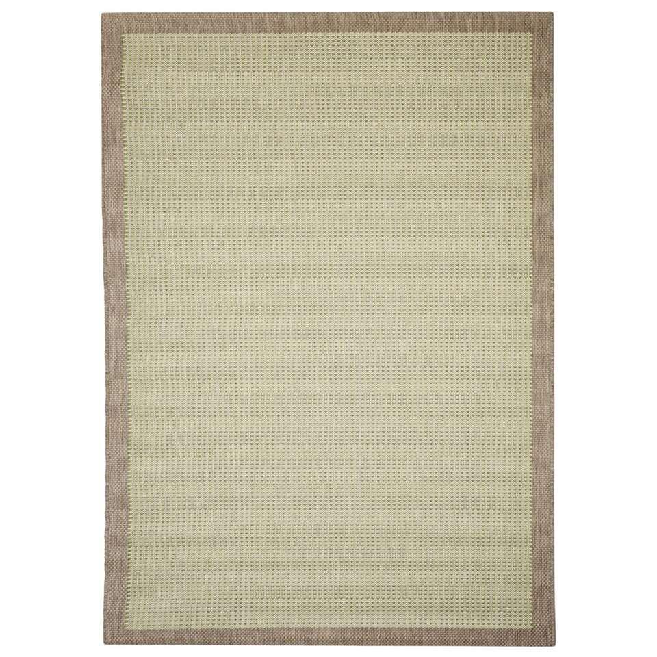 Floorita vloerkleed Chrome is een zeer sterk vloerkleed voor zowel binnen als buiten in de kleur groen met een afmeting van 160x230 cm.