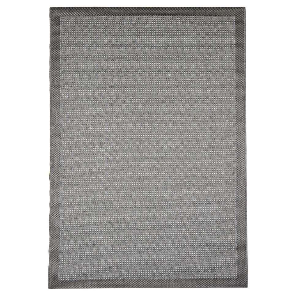 Floorita binnen/buitenvloerkleed Chrome - grijs - 160x230 cm - Leen Bakker