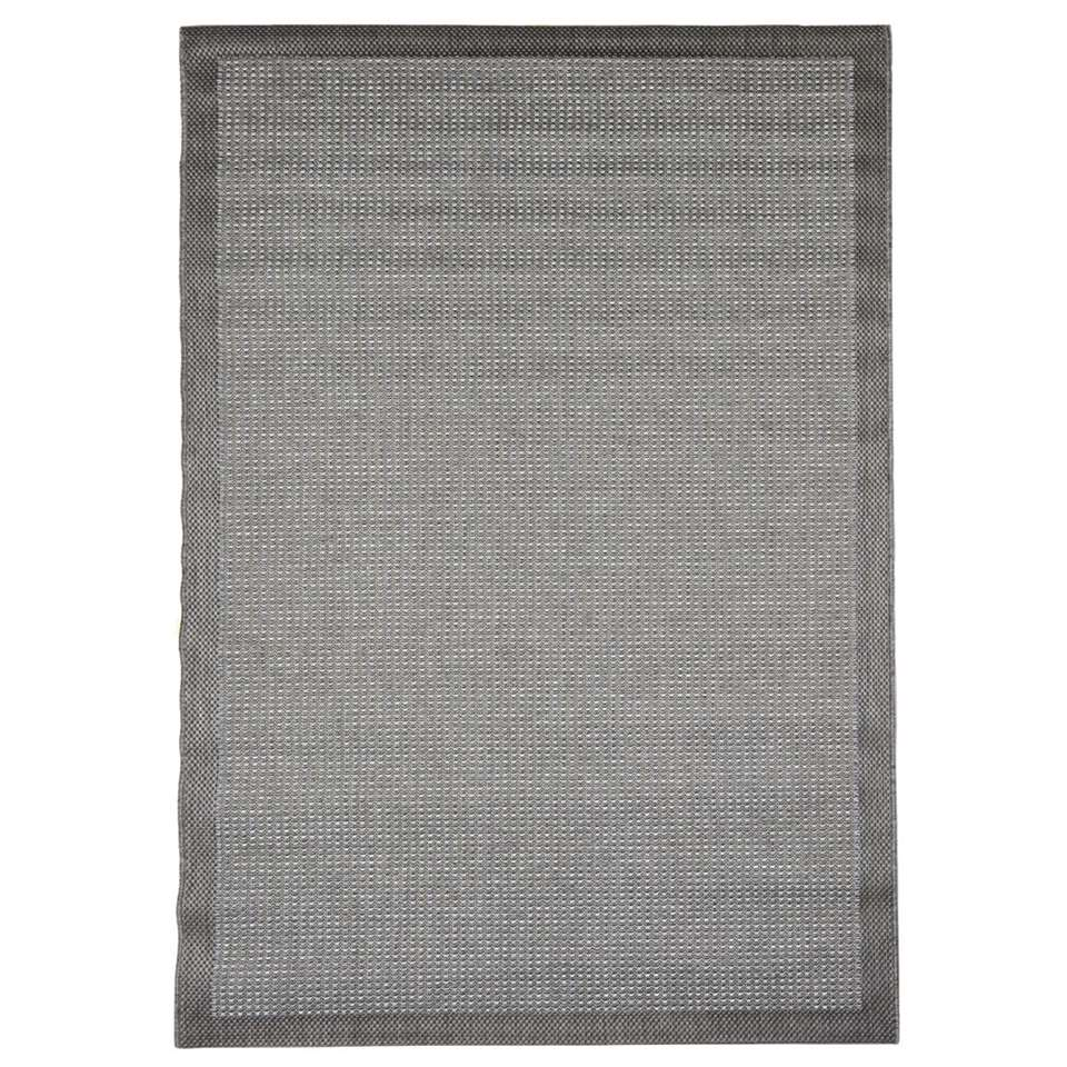 Floorita binnen/buitenvloerkleed Chrome - grijs - 200x290 cm - Leen Bakker