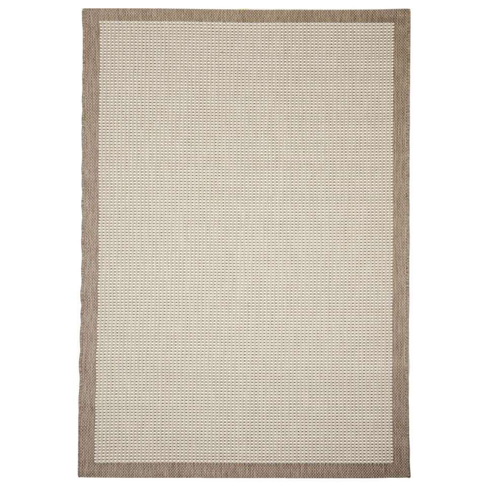 Floorita vloerkleed Chrome is een zeer sterk vloerkleed voor zowel binnen als buiten in de kleur naturel met een afmeting van 160x230 cm.