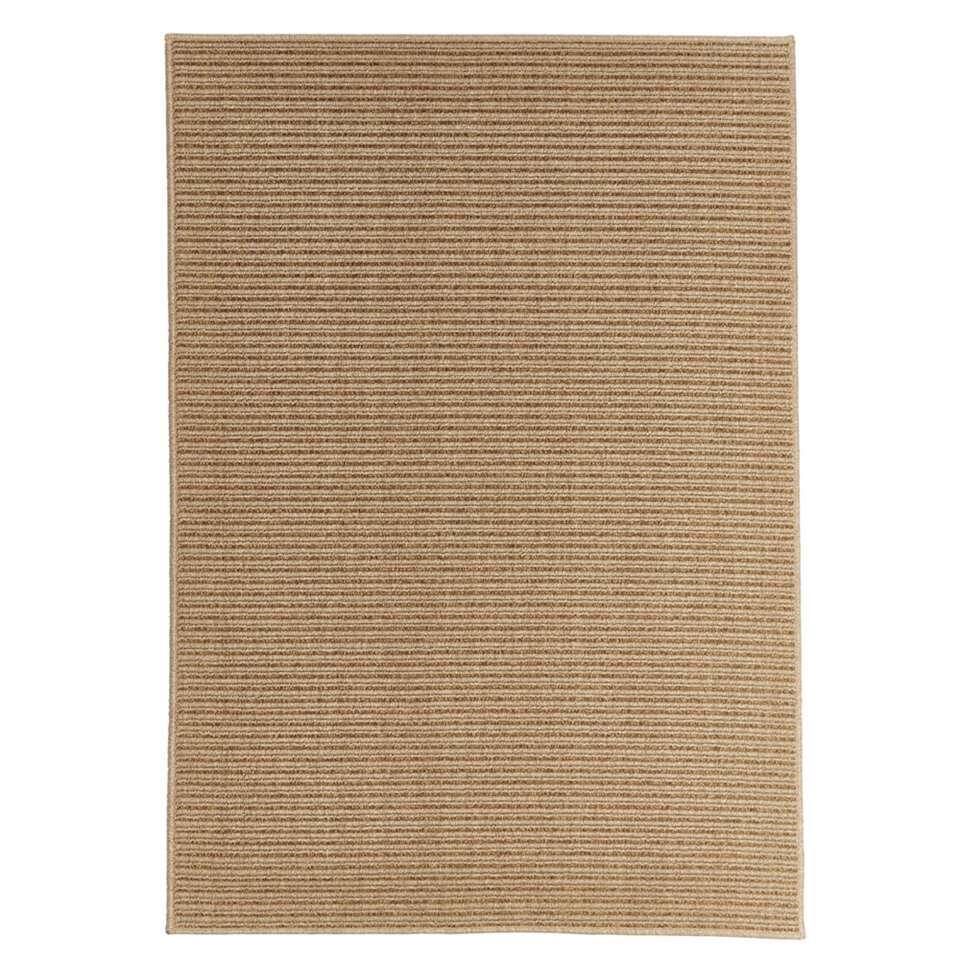 Floorita vloerkleed Effen is een zeer sterk vloerkleed voor zowel binnen als buiten in de kleur naturel met een afmeting van 200x285 cm.