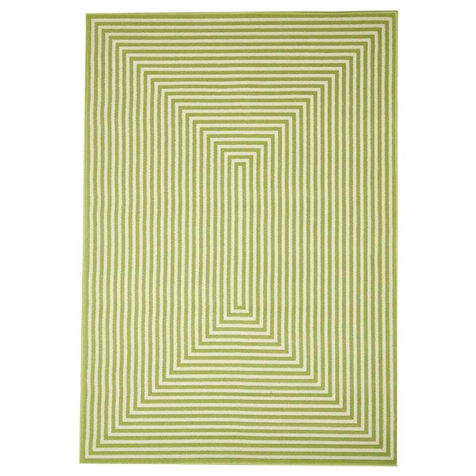 Floorita binnen/buitenvloerkleed Braid - groen - 160x230 cm - Leen Bakker