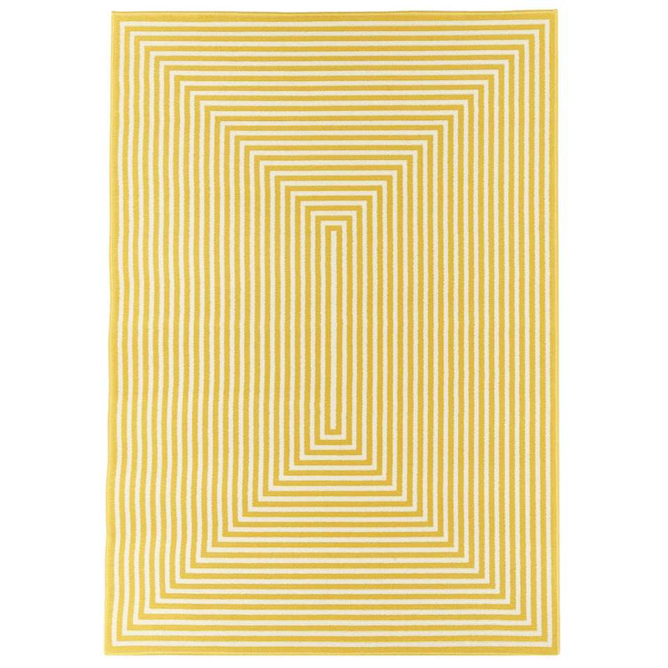 Floorita binnen/buitenvloerkleed Braid - geel - 160x230 cm - Leen Bakker