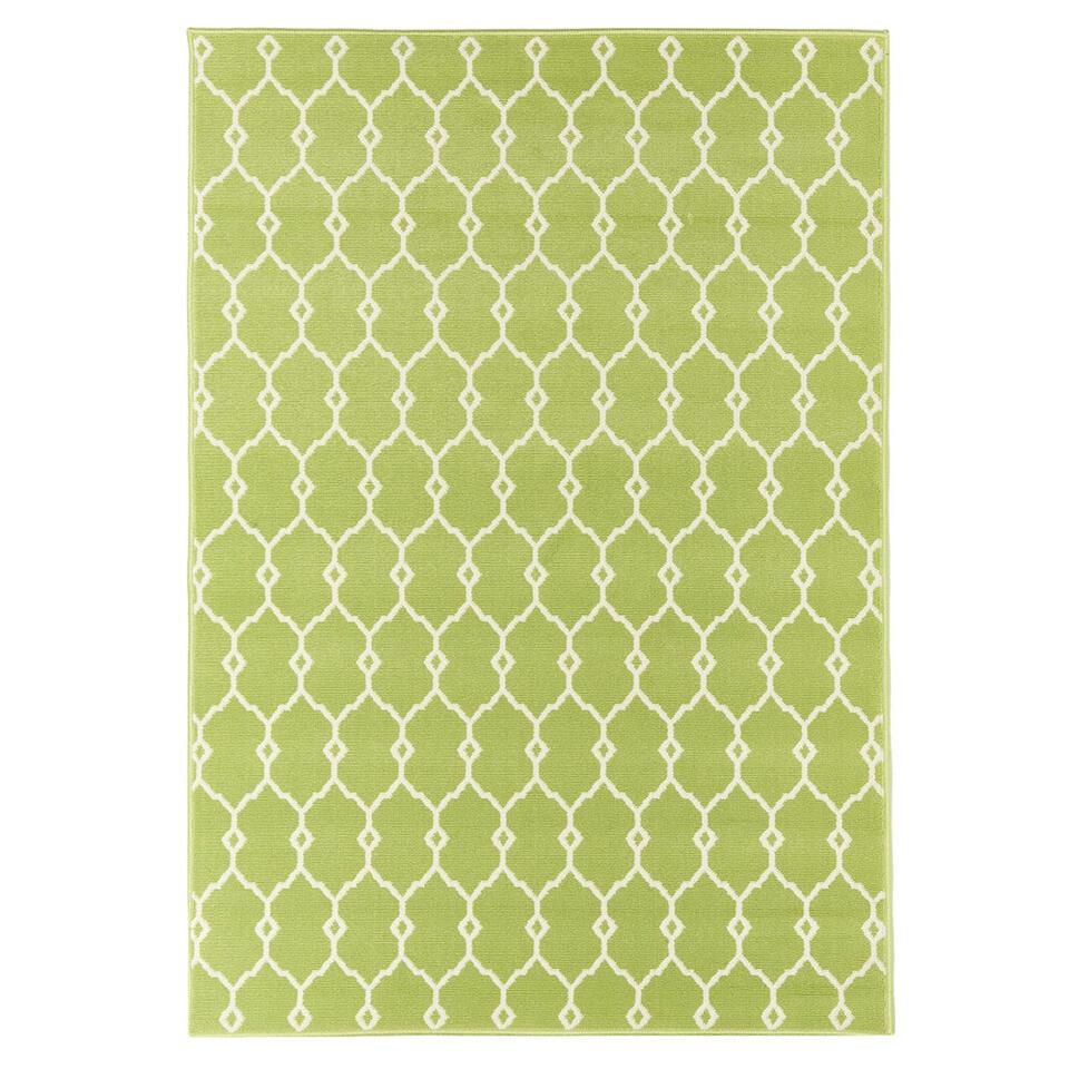 Floorita binnen/buitenvloerkleed Trellis - groen - 133x190 cm - Leen Bakker