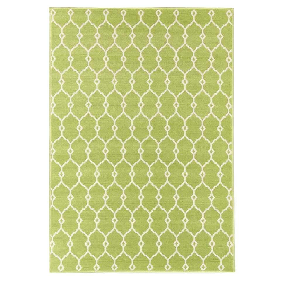 Floorita binnen/buitenvloerkleed Trellis - groen - 160x230 cm - Leen Bakker