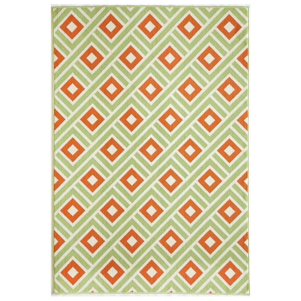 Floorita binnen/buitenvloerkleed Greca - groen - 160x230 cm