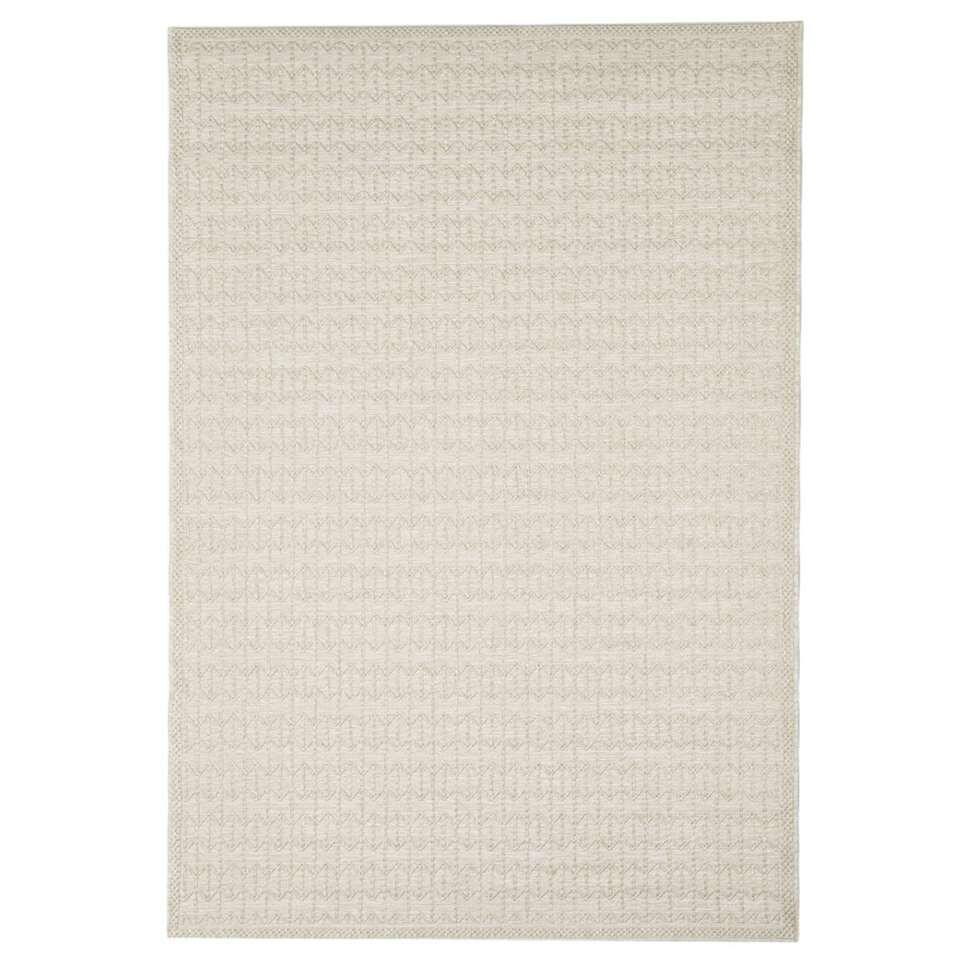 Floorita binnen/buitenvloerkleed Stuoia - ecru - 155x230 cm - Leen Bakker