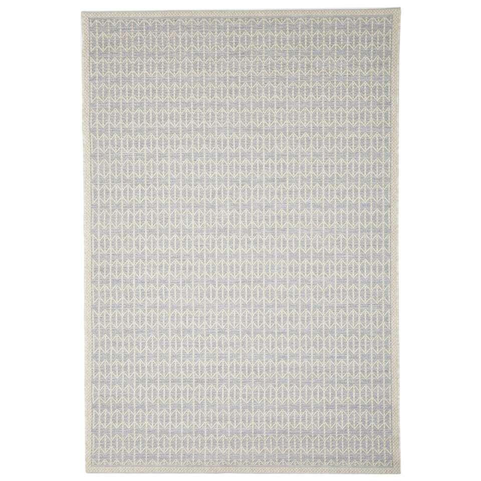 Floorita binnen/buitenvloerkleed Stuoia - zilver - 194x290 cm - Leen Bakker