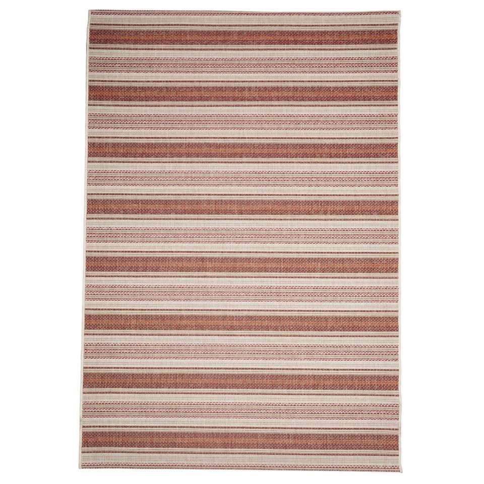 Floorita binnen/buitenvloerkleed Riga - roest/rood - 160x230 cm