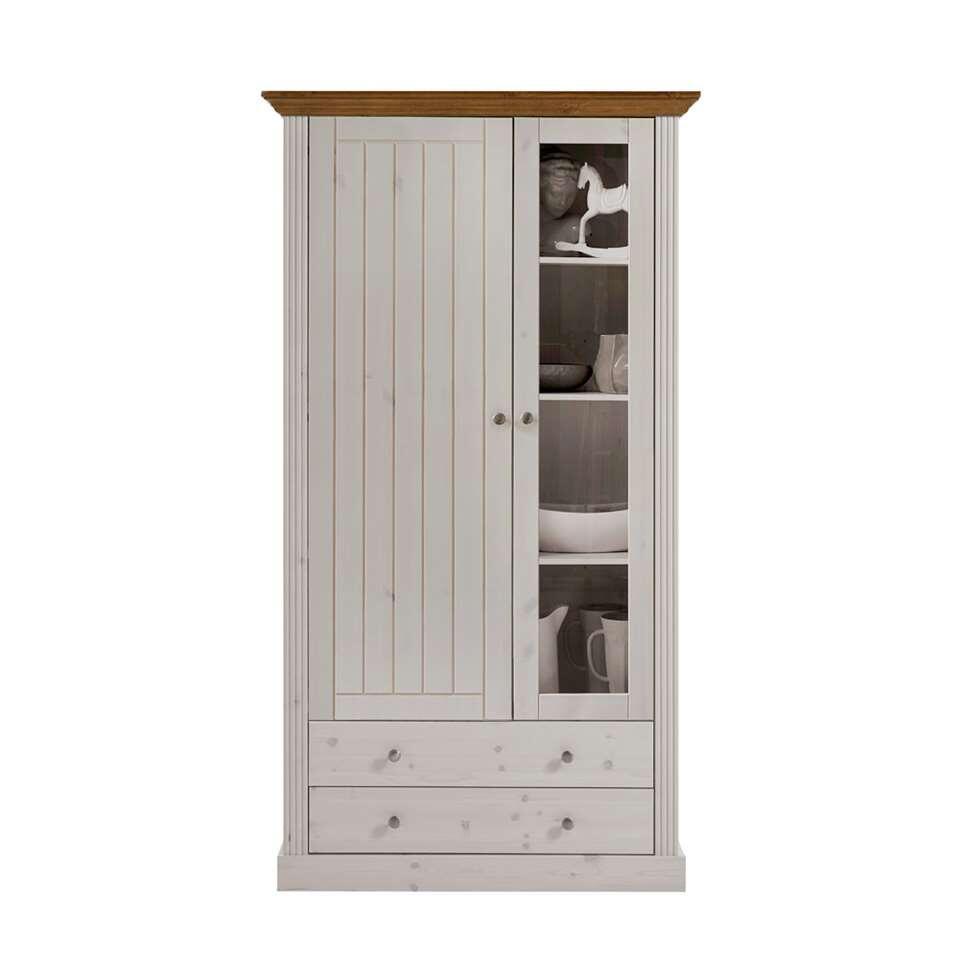 Buffetkast Monaco 2 deuren/2 lades – Provence wit – 190,1×103,9×42 cm – Leen Bakker