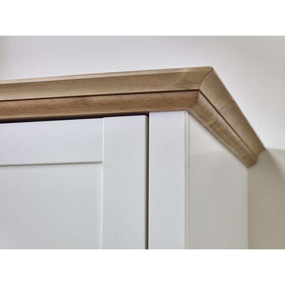 Kledingkast sandringham 2 deurs wit wax 192x104x58 cm for Kledingkasten outlet