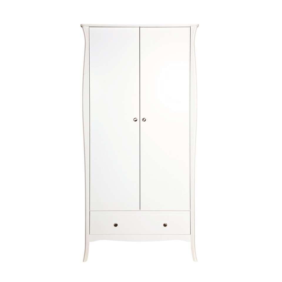 Kledingkast Baroque 2-deurs - wit - 192x99x50 cm - Leen Bakker