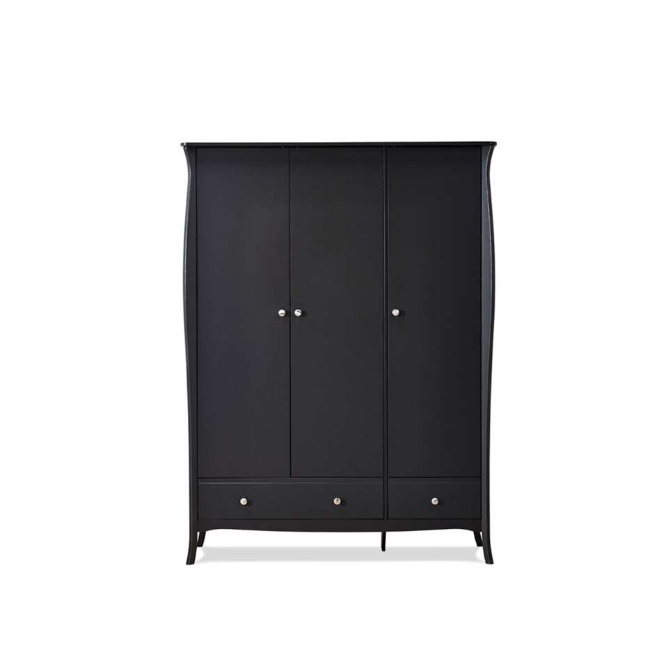 Kledingkast Baroque 3-deurs - donkergrijs - 192x143,3x50 cm - Leen Bakker