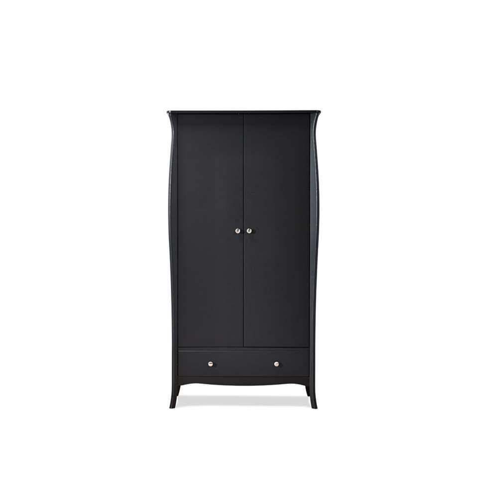 Kledingkast Baroque 2-deurs - donkergrijs - 192x99x50 cm - Leen Bakker
