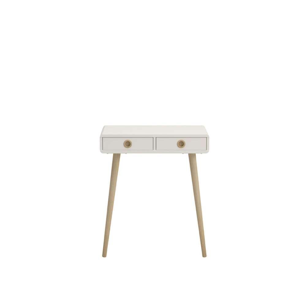 Haltafel Soft Line - wit - 75,5x65x30 cm - Leen Bakker