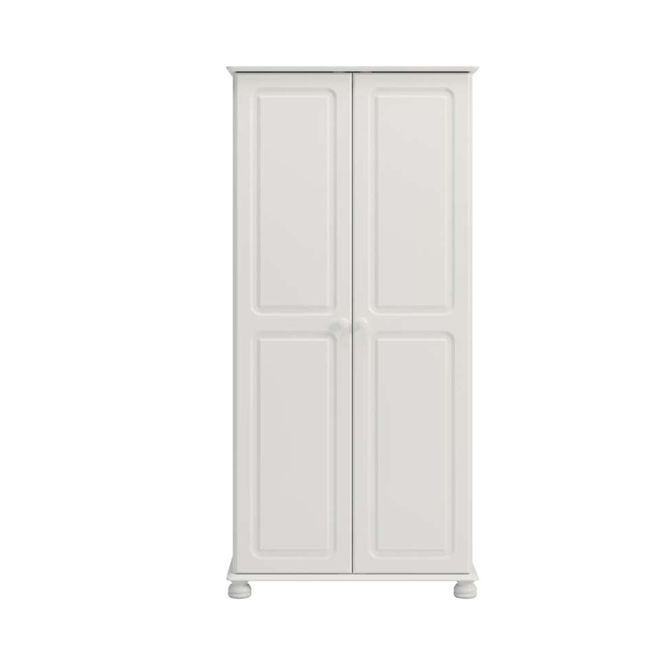 Kledingkast Richmond 2-deurs - wit - 185,1x88,2x57 cm - Leen Bakker