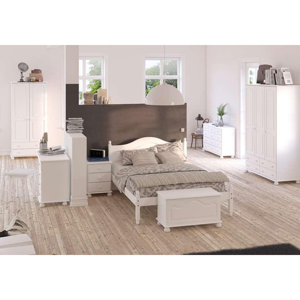 Kledingkast richmond 2 deuren 2 lades wit 185 1x88 2x57 cm for Kledingkasten outlet