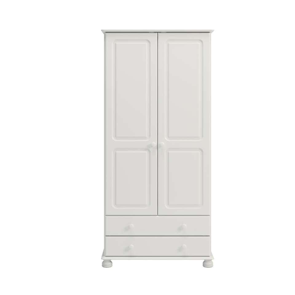 Kledingkast Richmond 2 deuren/2 lades - wit - 185,1x88,2x57 cm - Leen Bakker