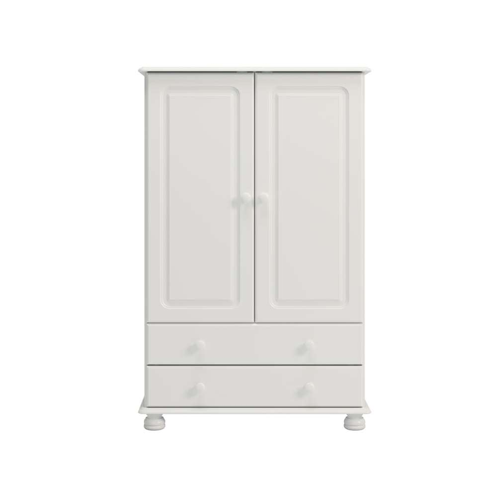 Kleerkast Richmond 2-deurs - wit - 137,2x88,2x46,8 cm - Leen Bakker