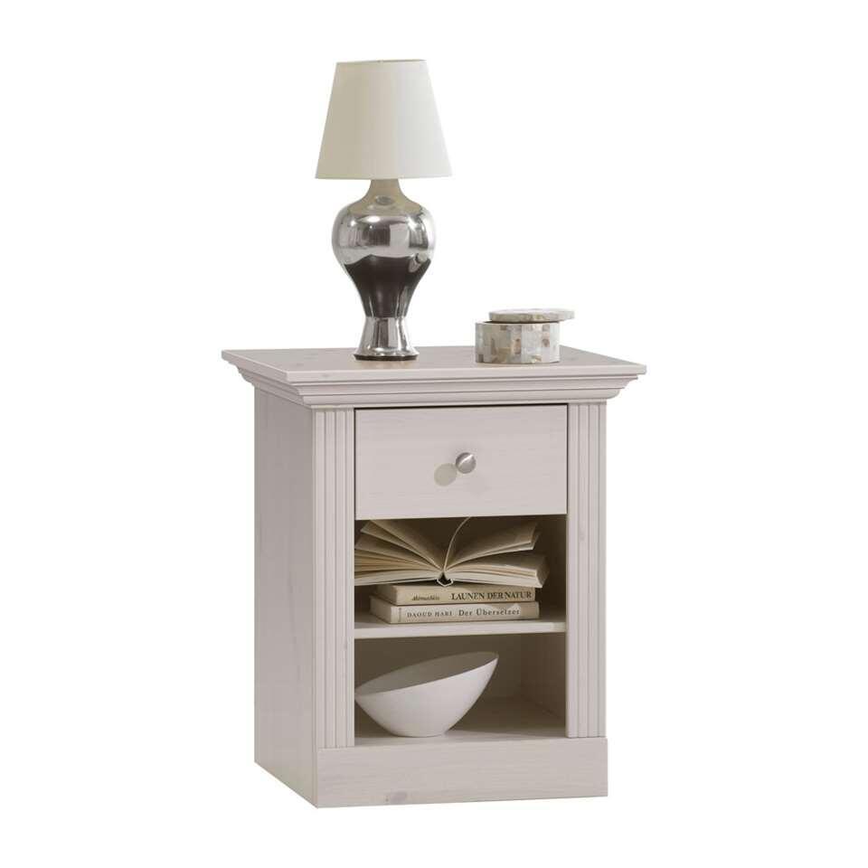 Nachtkastje Monaco - 1 lade - white wash