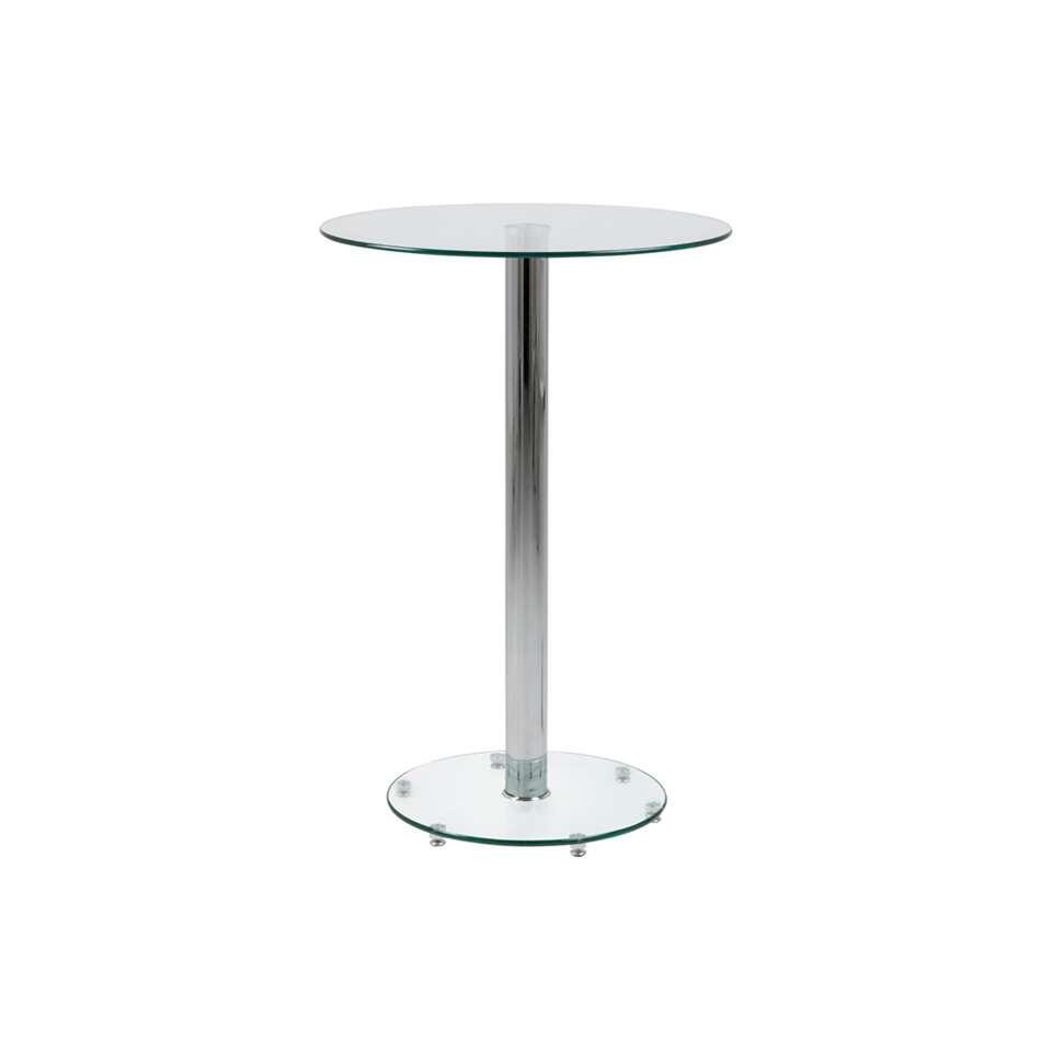 Statafel Farstad - glas - 105x70x70 cm - Leen Bakker
