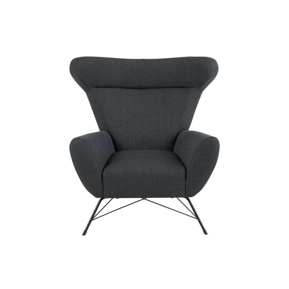 Fauteuil Floro - stof - antraciet