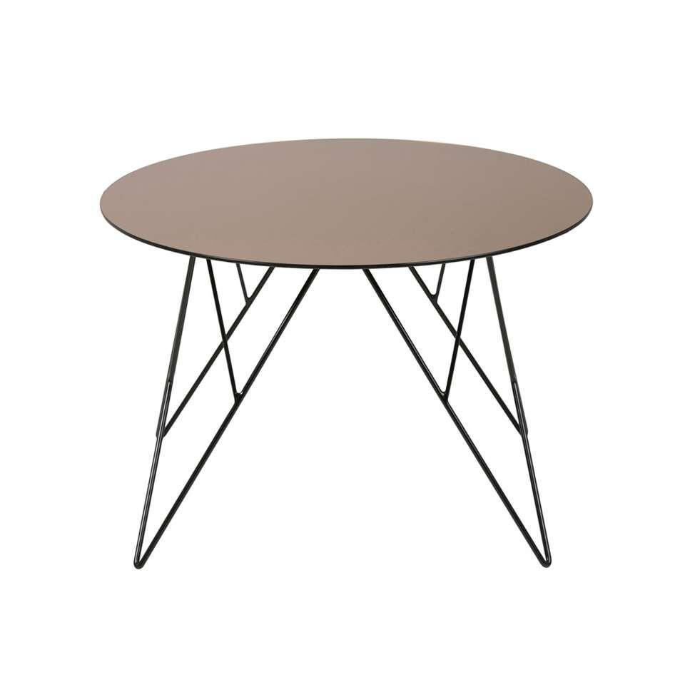 Bijzettafel Elvdal - bronskleur - 40xØ55 cm - Leen Bakker