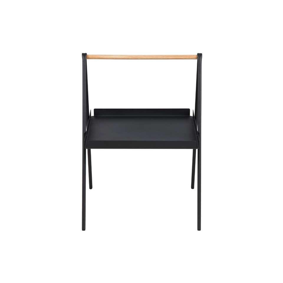 Bijzettafel Kalmar rechthoek - zwart - 42x50x59 cm - Leen Bakker