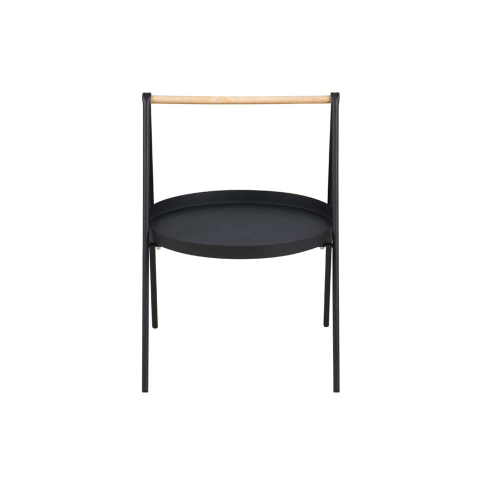 Bijzettafel Kalmar rond - zwart - 40x40x58 - Leen Bakker