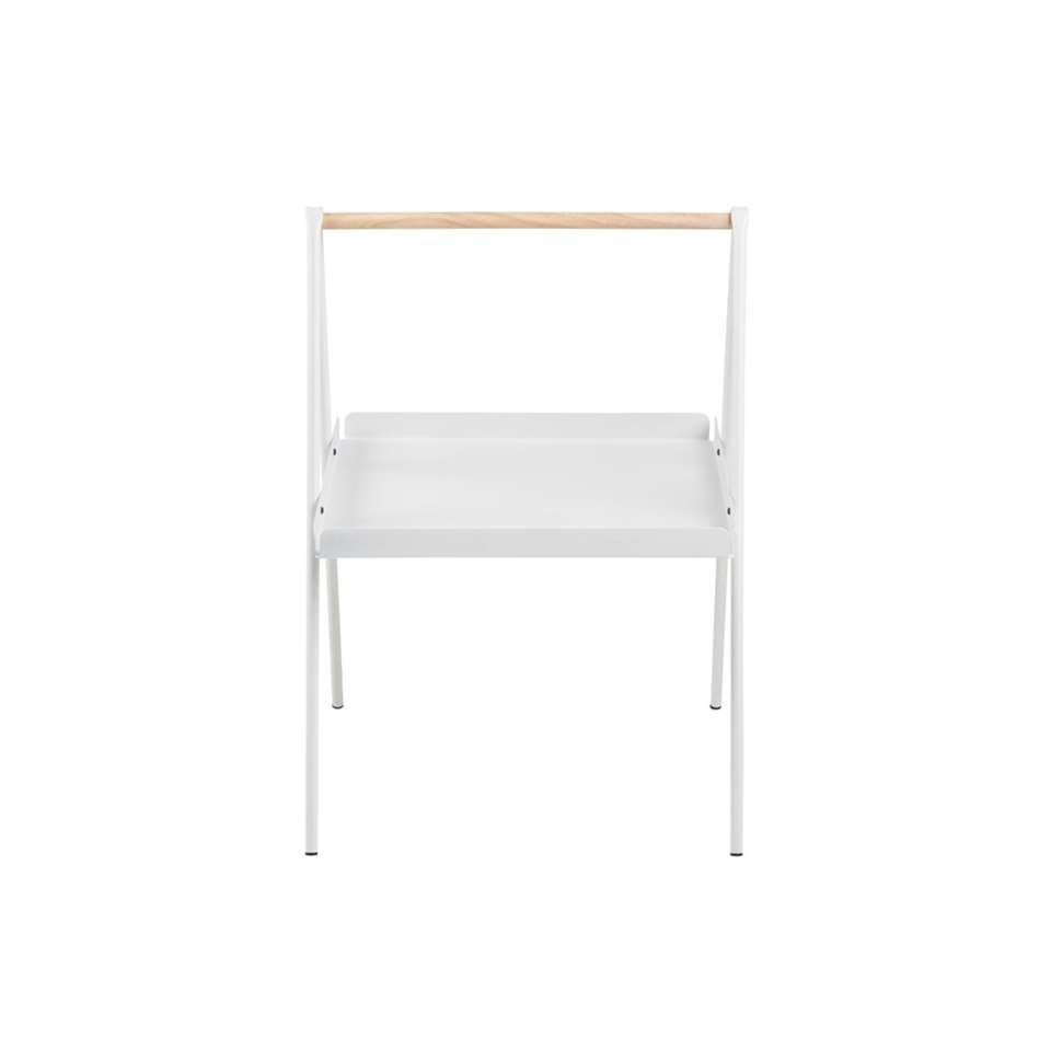 Bijzettafel Kalmar vierkant - wit - 42x50x59 cm - Leen Bakker