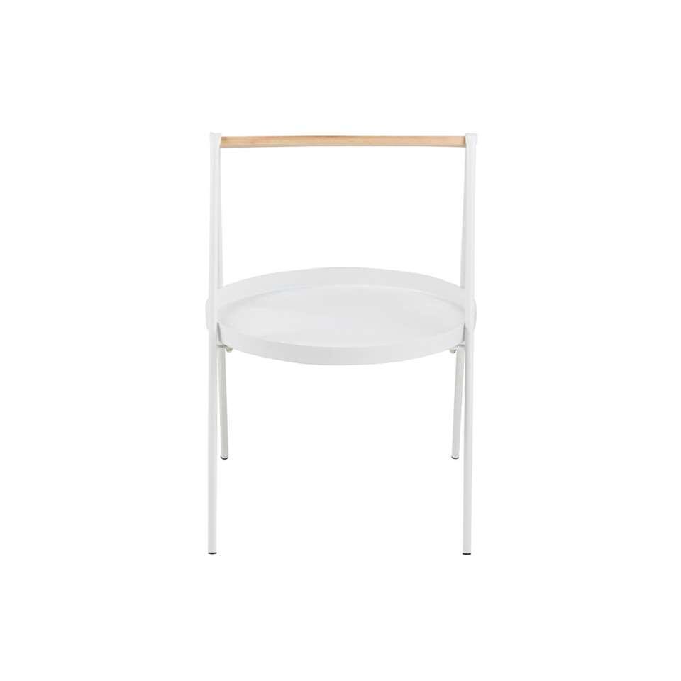 Bijzettafel Kalmar rond - wit - 40x40x58 - Leen Bakker