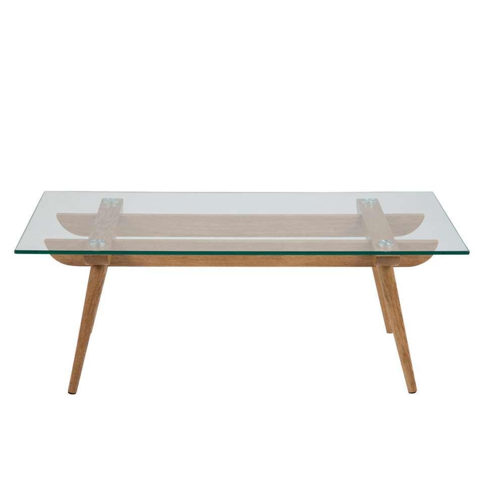 Salontafel Lysta - glas - 110x60 cm - Leen Bakker