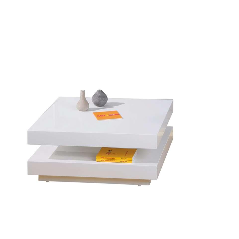 Salontafel Duomo - hoogglans wit - 75x75x30 cm - Leen Bakker