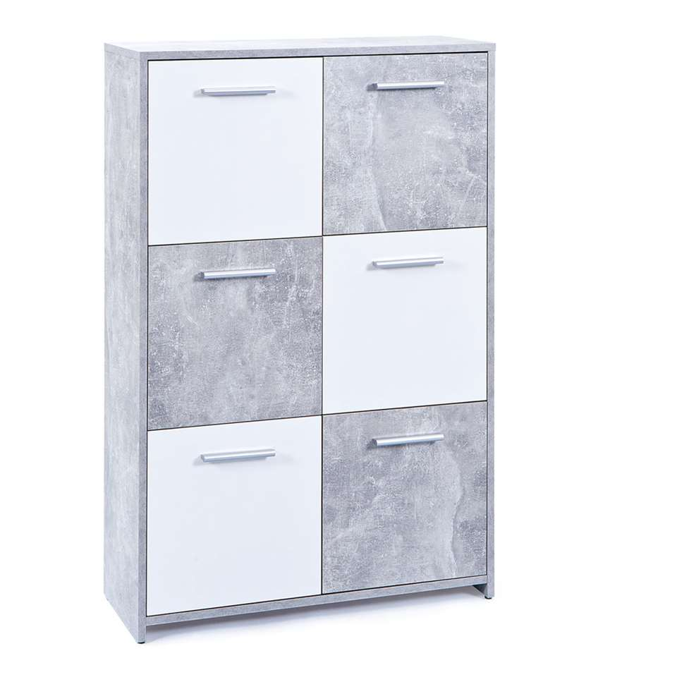 Kast Malunus - grijs/wit - 115x77x30 cm