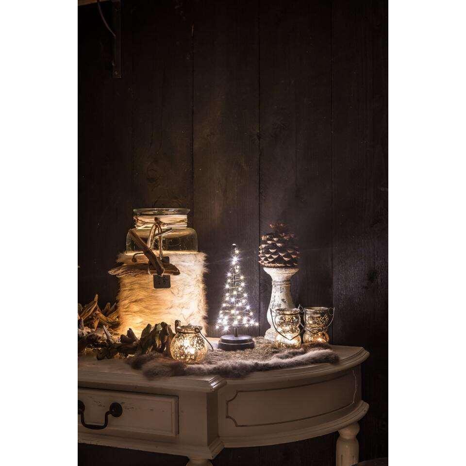 Christmas United kerstboom - zwart - 26x10 cm - Leen Bakker