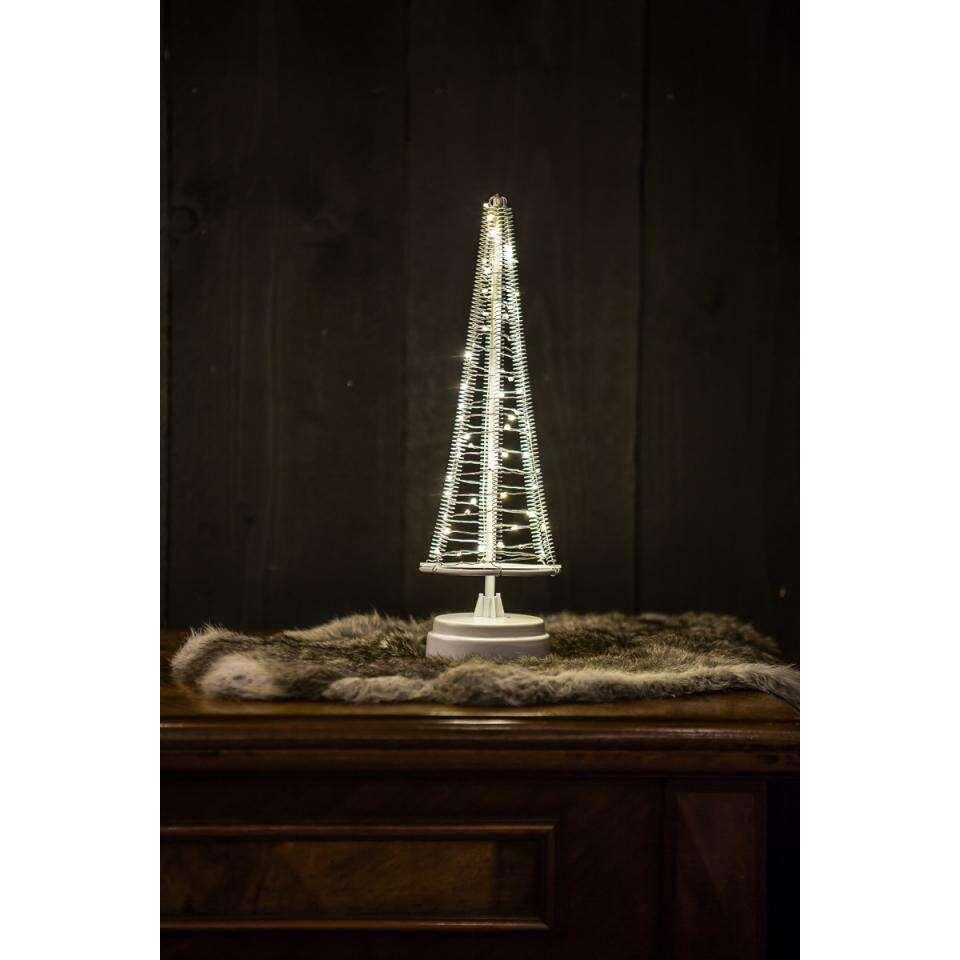Christmas United kerstboom - wit/zilver - 42,5x16 cm