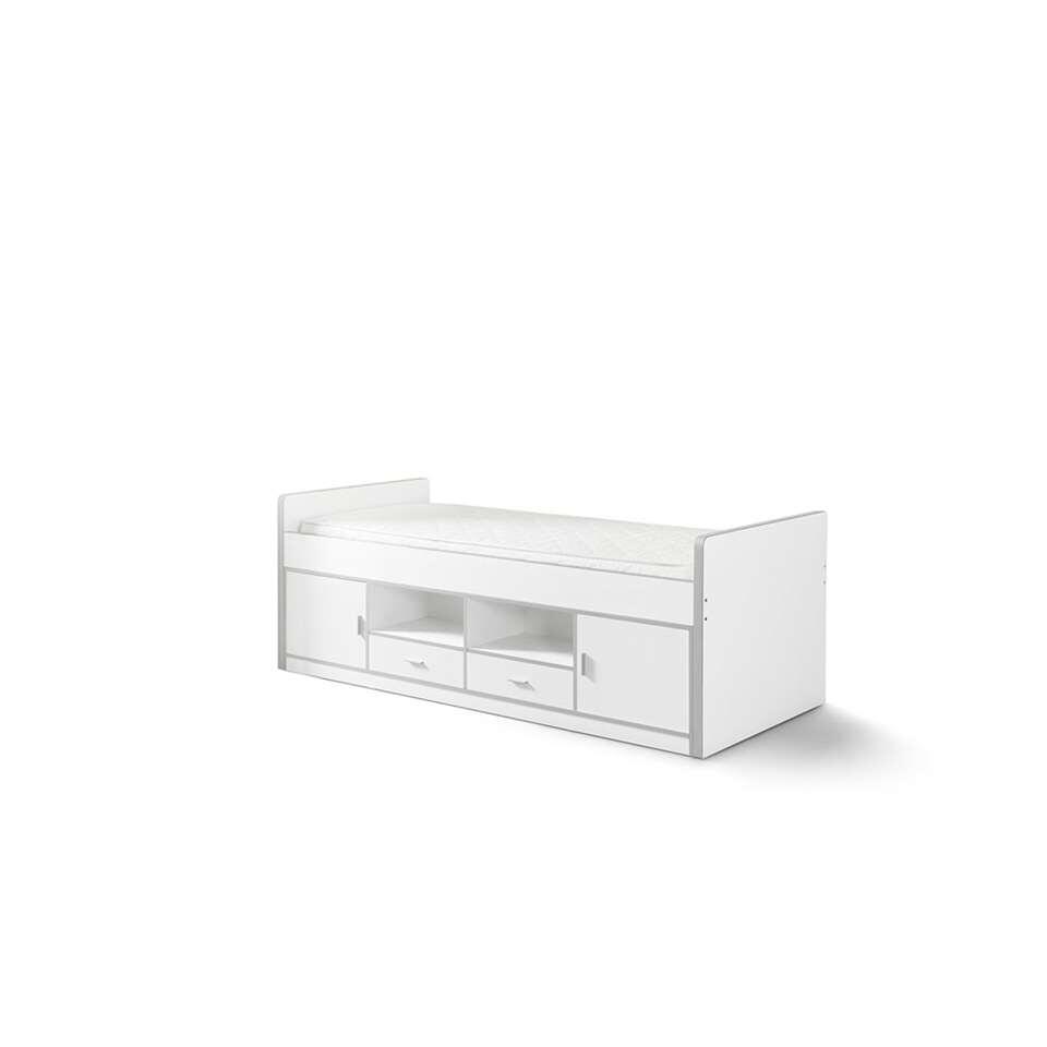 Vipack kajuitbed Bonny - wit - 78,5x97,5x207 cm - Leen Bakker