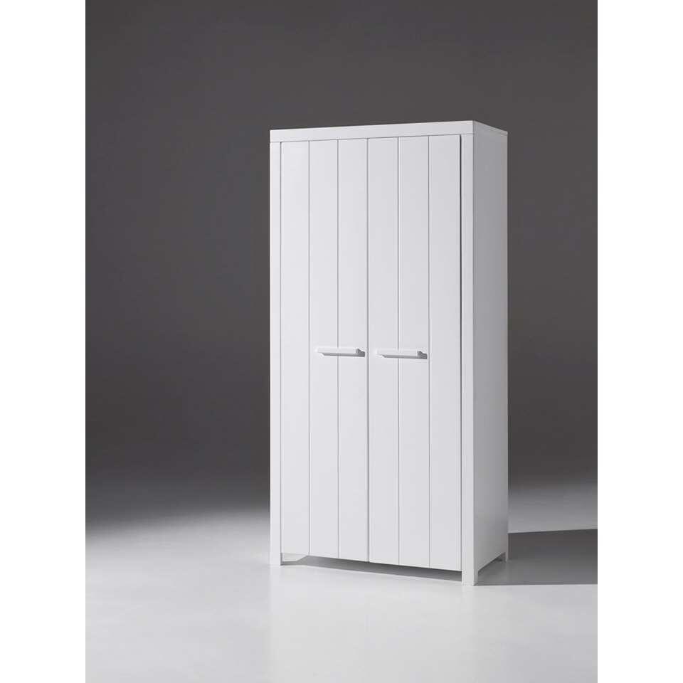 Vipack kinderkledingkast Erik 2 deurs wit