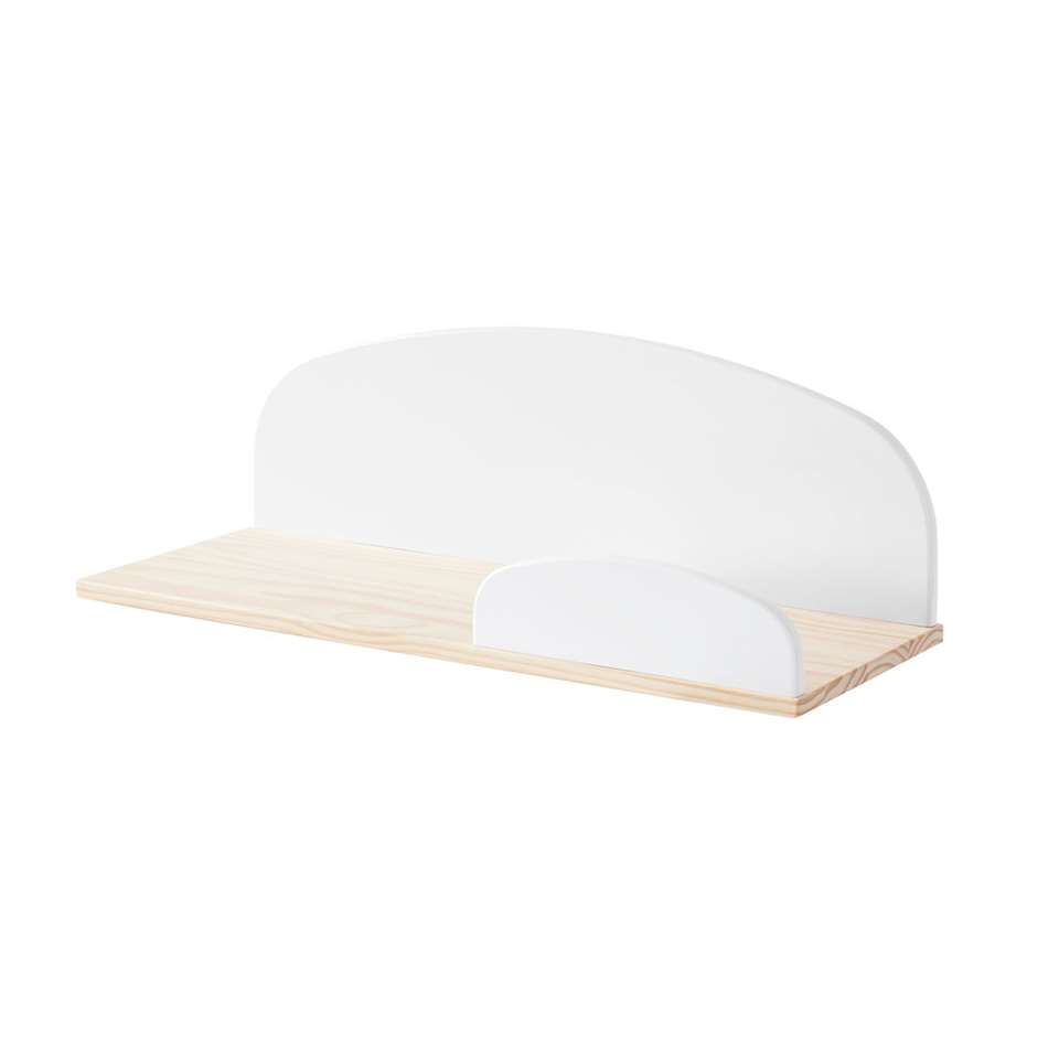 Vipack wandplank Kiddy - wit - 65 cm - Leen Bakker