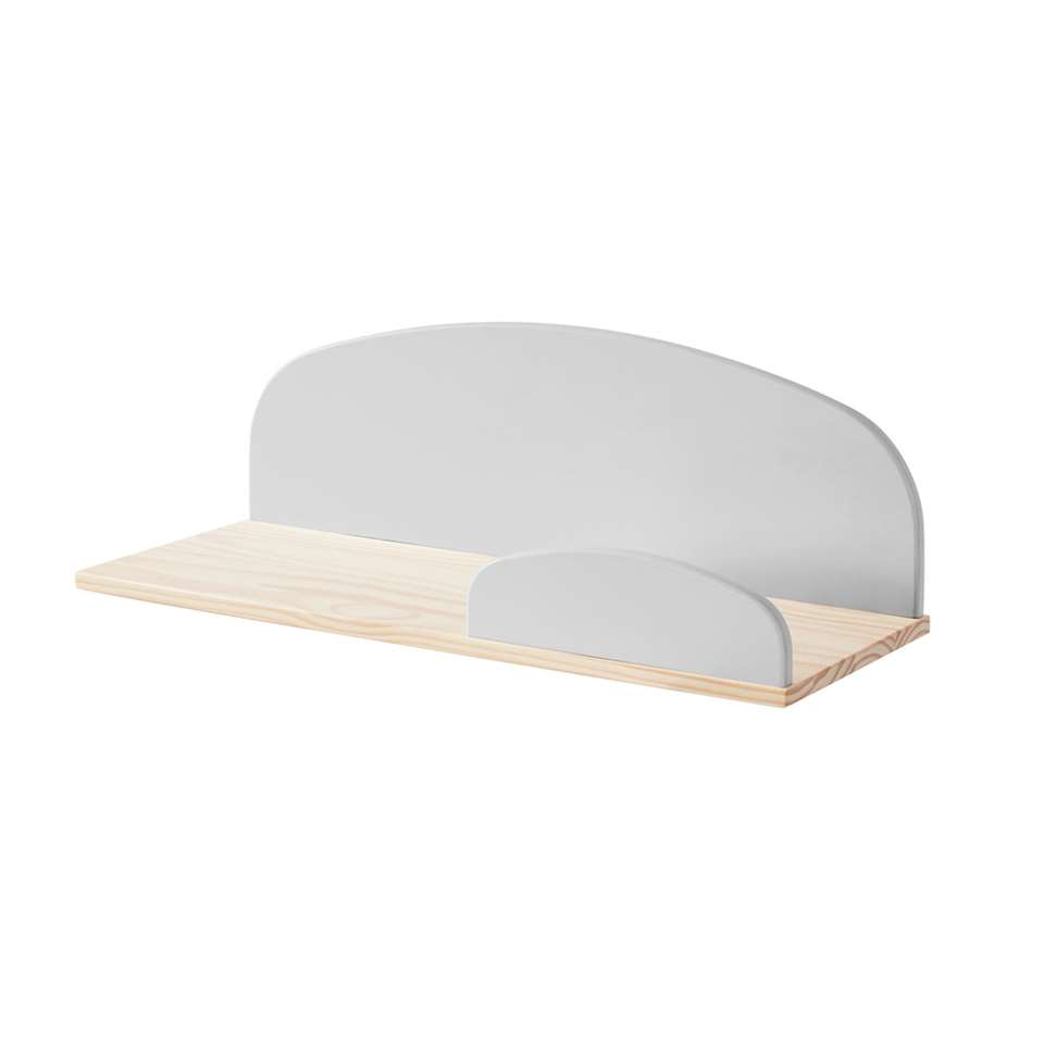 Vipack wandplank Kiddy - grijs - 65 cm - Leen Bakker
