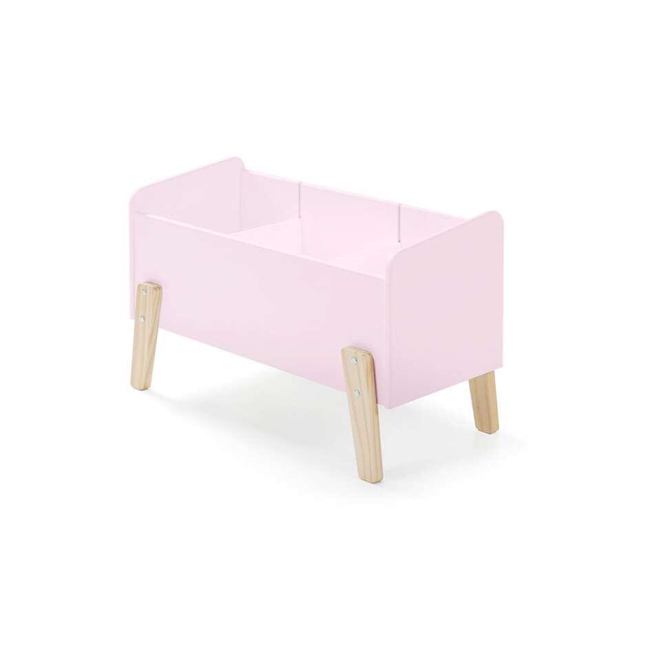 Vipack speelkoffer Kiddy - oud roze - Leen Bakker