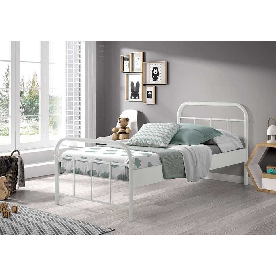 Vipack bed Boston - wit - 90x200 cm - Leen Bakker
