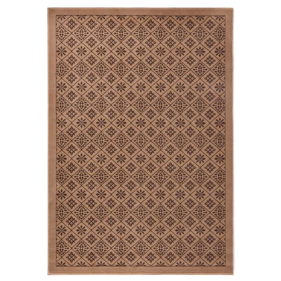 Hanse Home vloerkleed Tile - bruin - 200x290 cm - Leen Bakker