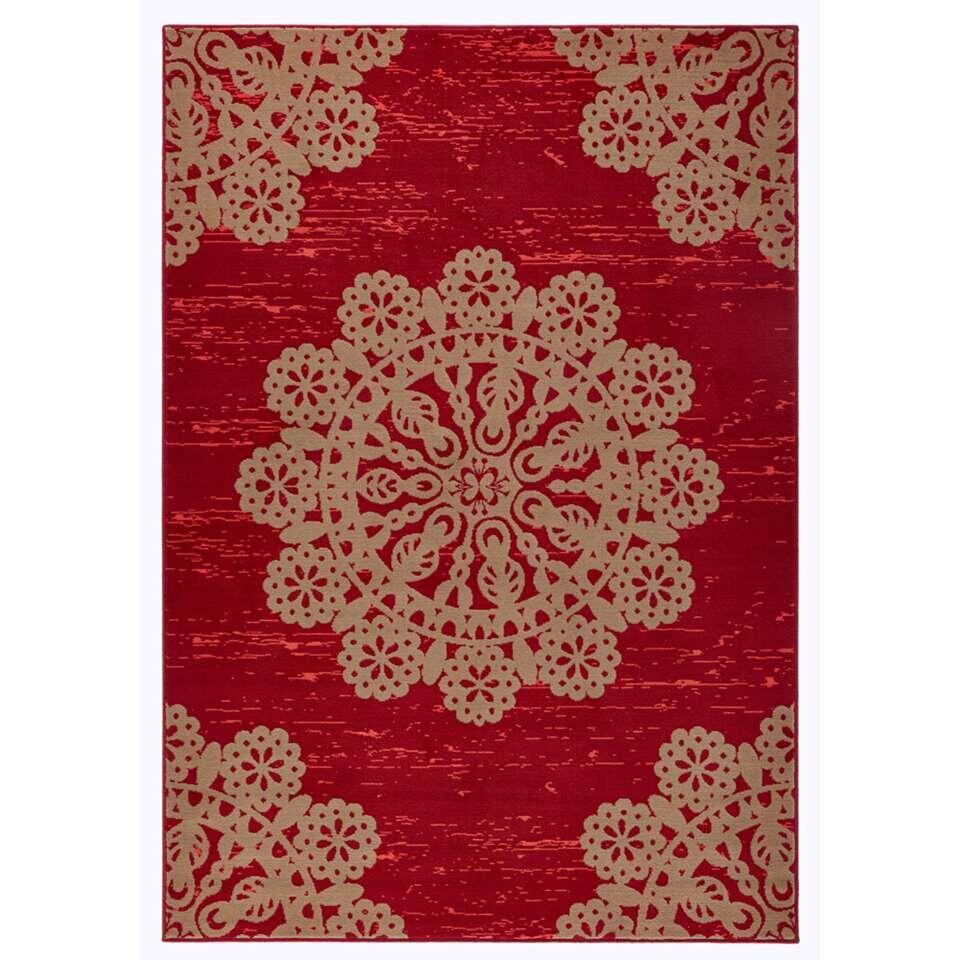 Hanse Home vloerkleed Lace - rood/bruin - 80x150 cm - Leen Bakker