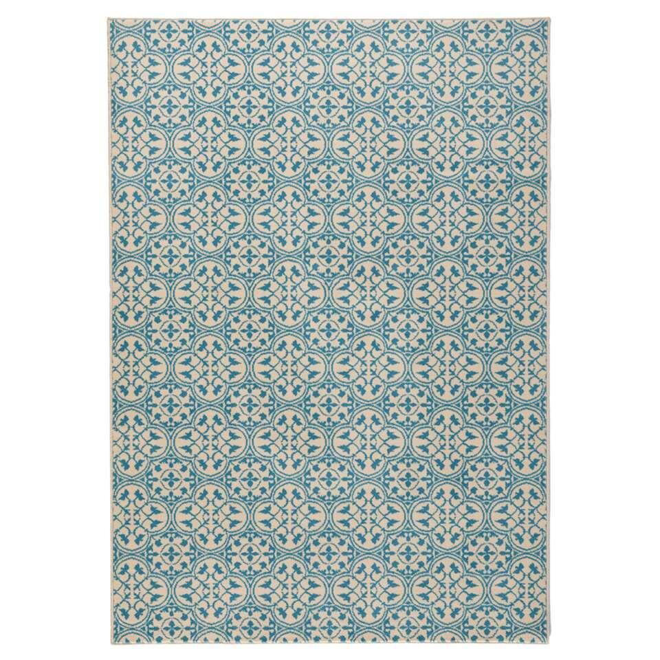 Hanse Home vloerkleed Pattern - blauw/crème - 120x170 cm - Leen Bakker