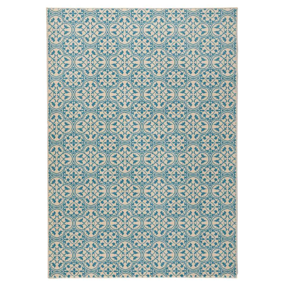 Hanse Home vloerkleed Pattern - blauw/crème - 160x230 cm - Leen Bakker