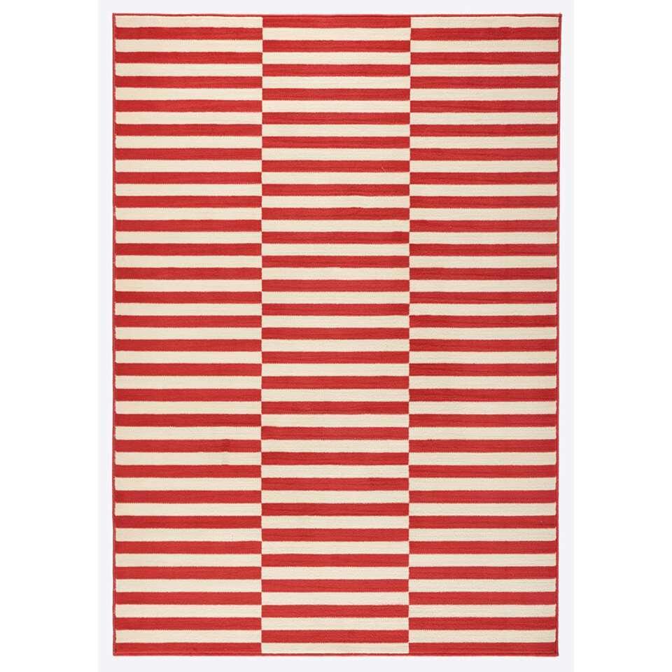 Hanse Home vloerkleed Panel - koraal/crème - 80x150 cm - Leen Bakker