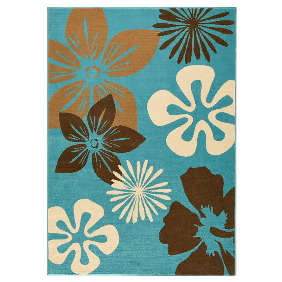 Hanse Home vloerkleed Flora - blauw - 80x150 cm - Leen Bakker